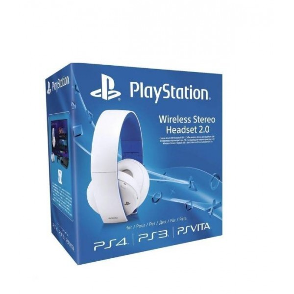 CASQUE WIRELESS STEREO 2.0 BLANC PS4 EURO NEW