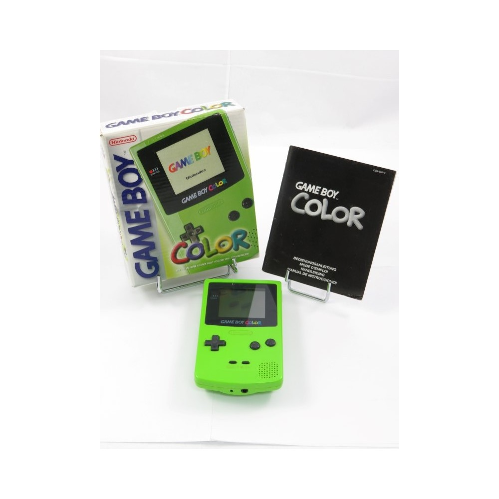 CONSOLE GAMEBOY COLOR GREEN PAL-EURO OCCASION (EN BOITE)