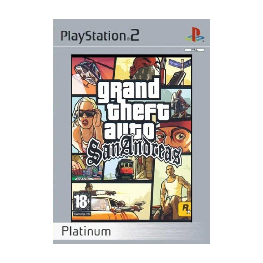 GTA SAN ANDREAS PLATINUM PS2 PAL-FR OCCASION