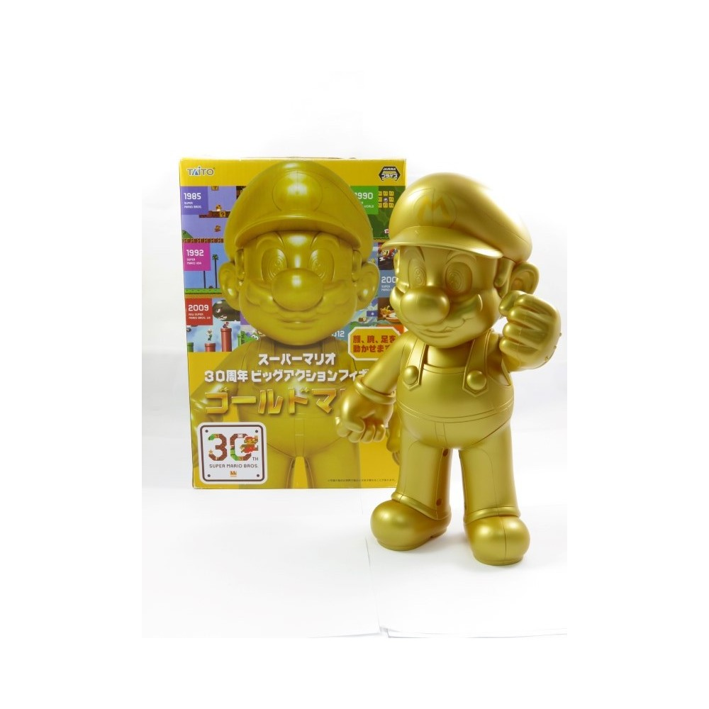 MARIO GOLD SUPER 30TH ANNIVERSARY BIG ACTION FIGURE 12 BROS TAITO JPN OCCASION