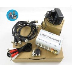 BNC Box V2 Scart to BNC adapter (with sync stripper LM1881) RGB PVM BVM monitor