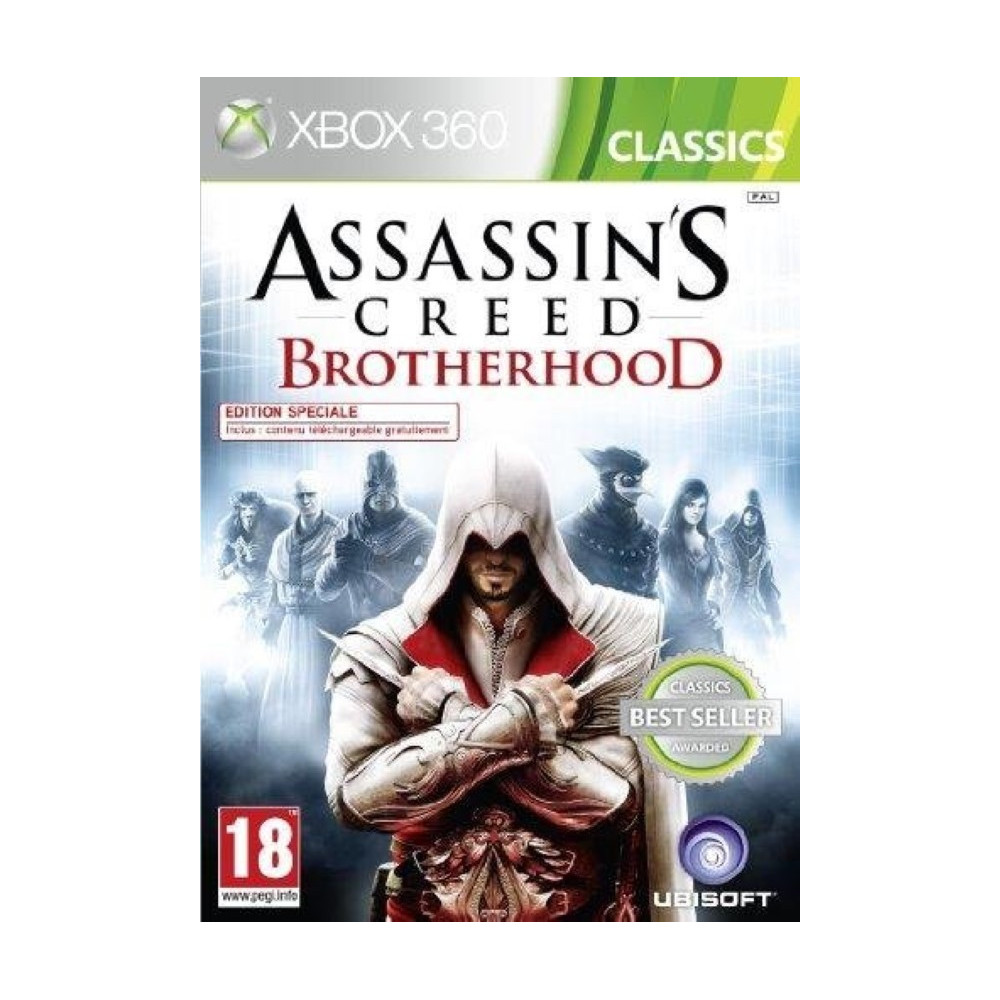 ASSASSIN'S CREED BROTHERHOOD CLASSICS XBOX 360 PAL-FR OCCASION