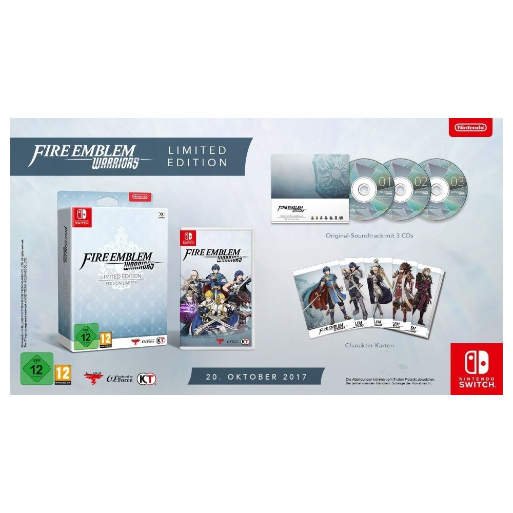 FIRE EMBLEM WARRIORS LIMITED EDITION SWITCH EURO FR OCCASION