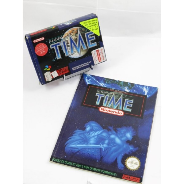 ILLUSION OF TIME SNES PAL-SFRA OCCASION (AVEC GUIDE)
