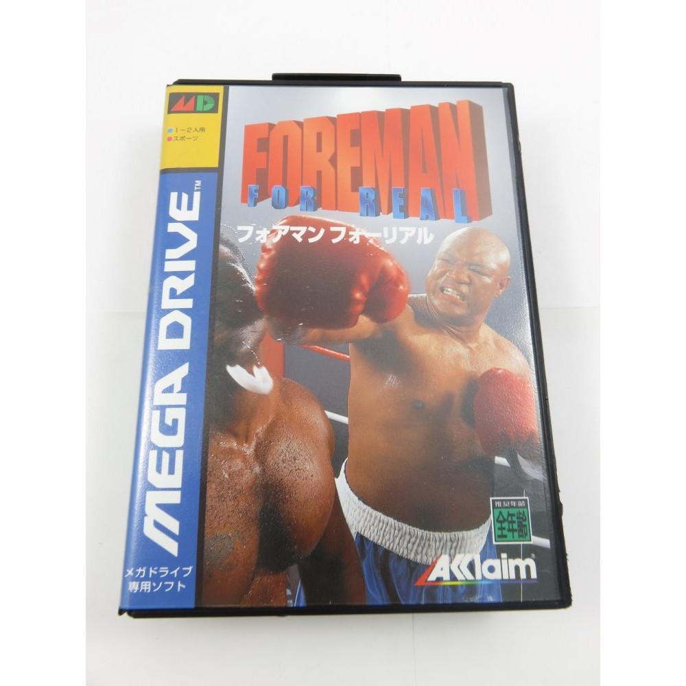 Foreman For Real Mega Drive NTSC-JPN Mint Very Rare