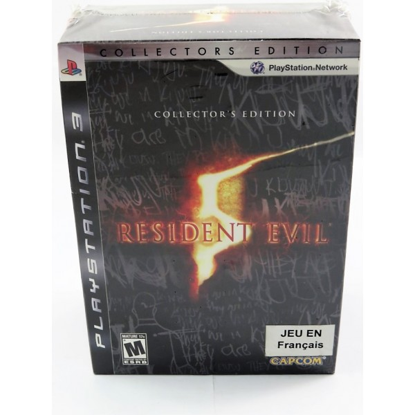 RESIDENT EVIL 5 COLLECTOR S EDITION PS3 USA NEW