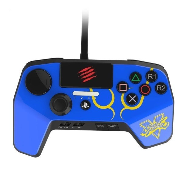 CONTROLLER FIGHTPAD PRO STREET FIGHTER 5 BLEU MADCATZ PS4 EURO OCCASION