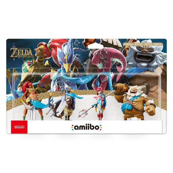 AMIIBO DARUK+MIPHA+REVALI+URBOSA COLLECTION LEGEND OF ZELDA SWITCH NEW