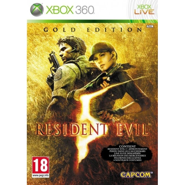 RESIDENT EVIL 5 GOLD EDITION XBOX 360 PAL-FR OCCASION