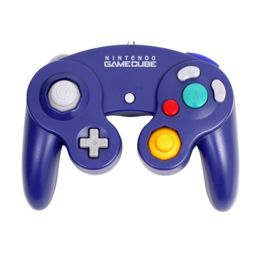 CONTROLLER GAMECUBE PURPLE OFFICIEL OCCASION