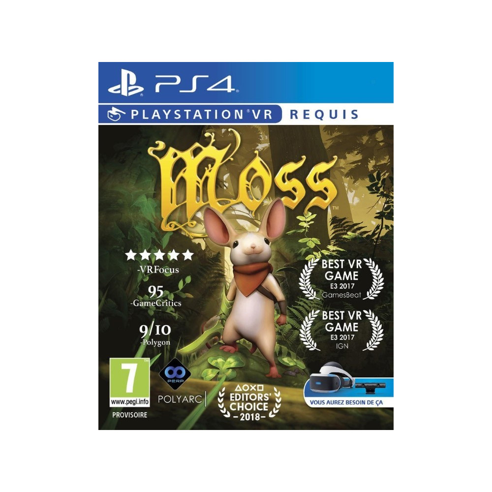 MOSS VR PS4 FR NEW