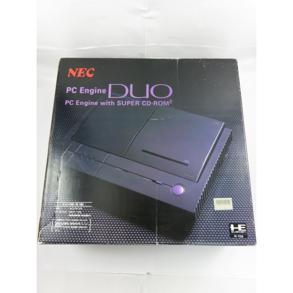 CONSOLE NEC PC ENGINE DUO PI-TG8 NTSC-JPN (NOTICE MATCHING - EXCELLENT ETAT)