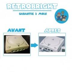 Forfait RetroBright Dreamcast - Blanchiment Modding Modification Upgrade Dézonage - Sega