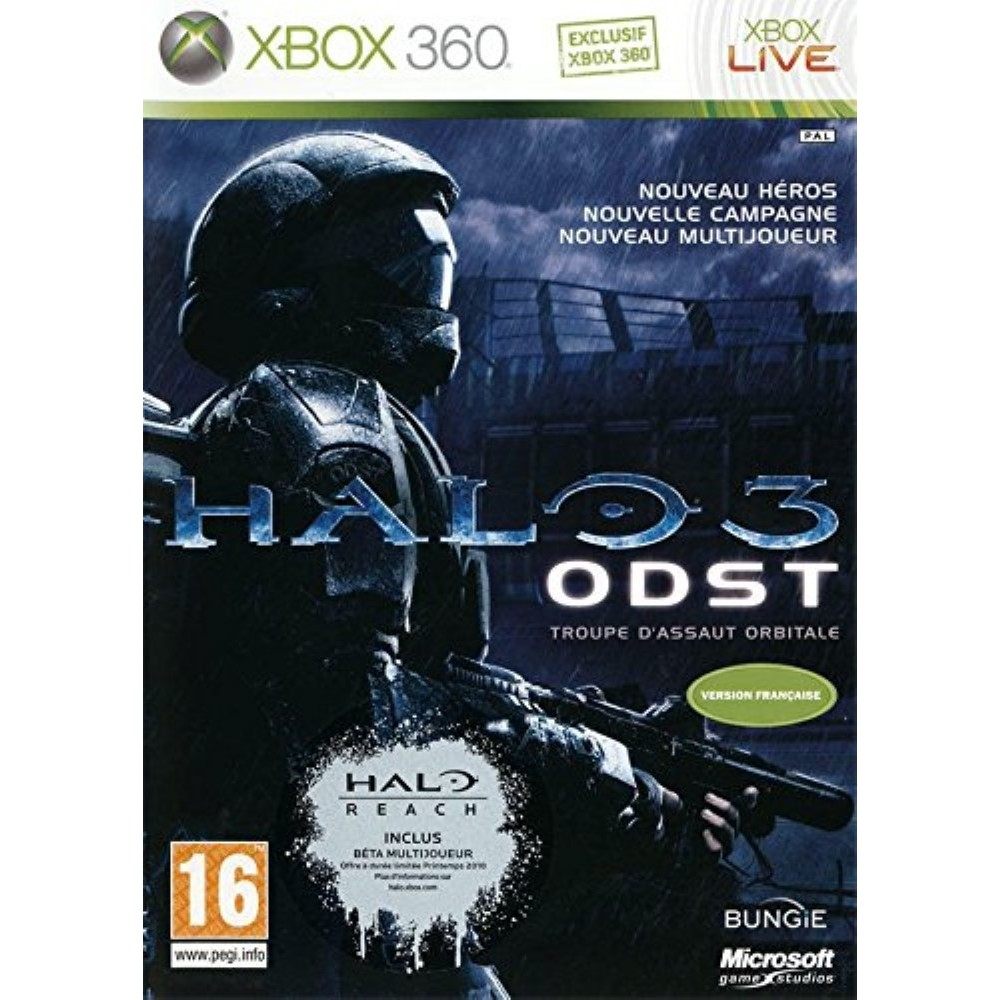 HALO 3 ODST XBOX 360 PAL-FR OCCASION
