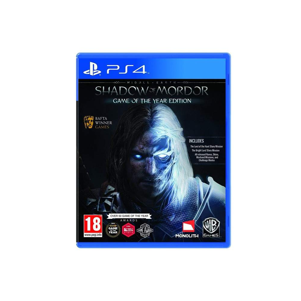 SHADOW OF MORDOR GAME OF THE YEAR EDITION PS4 ANGLAIS OCCASION