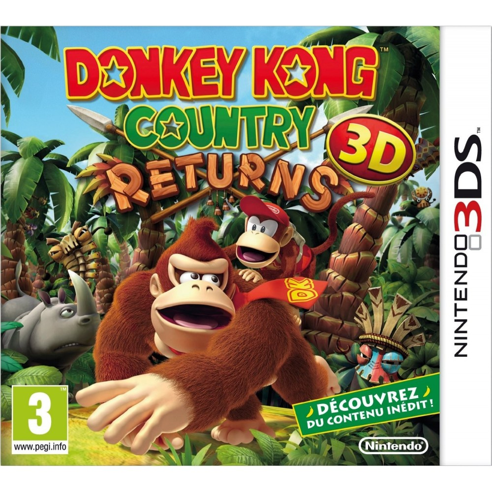 DONKEY KONG COUNTRY RETURNS 3D 3DS UK OCCASION