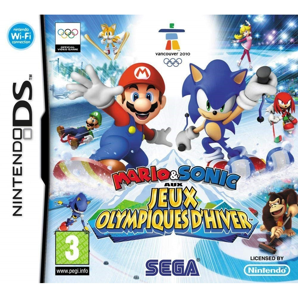 mario sonic aux jeux olympiques d 39 hiver nds fra occasion. Black Bedroom Furniture Sets. Home Design Ideas
