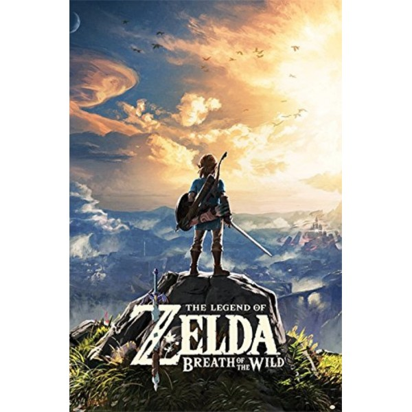 POSTER ZELDA BREATH OF THE WILD SUNSET EURO NEW