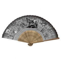 EVENTAIL MONSTER HUNTER: WORLD JAPANESE PATTERN FOLDING FAN BLACK JAP NEW