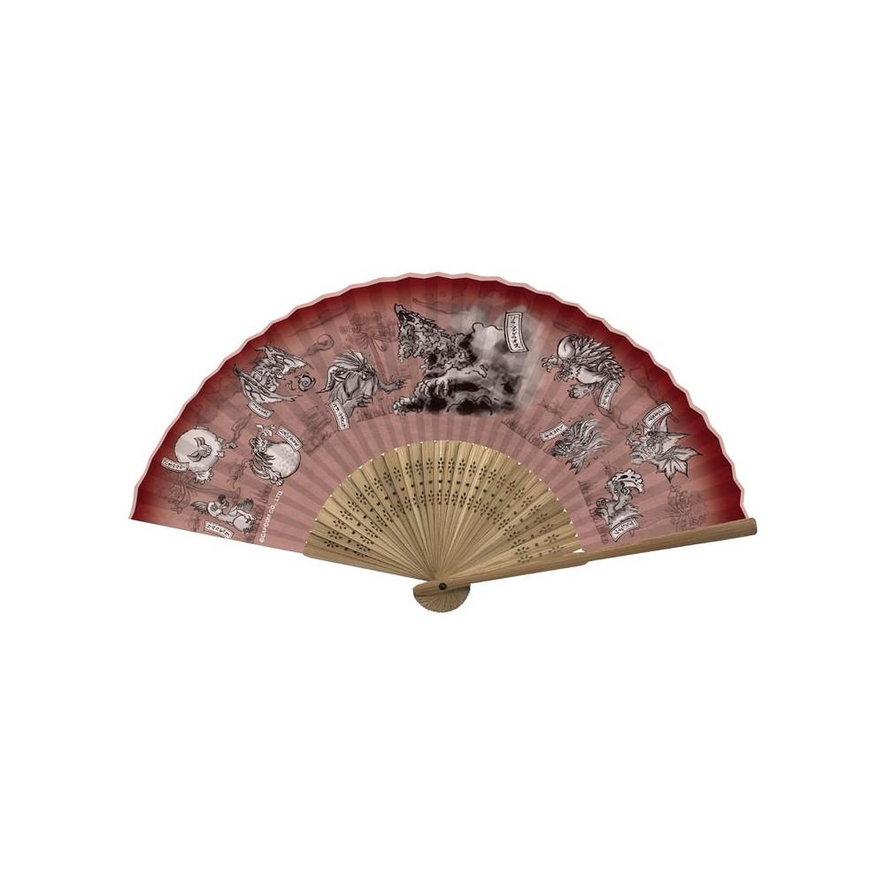 EVENTAIL MONSTER HUNTER: WORLD JAPANESE PATTERN FOLDING FAN RED JAP NEW