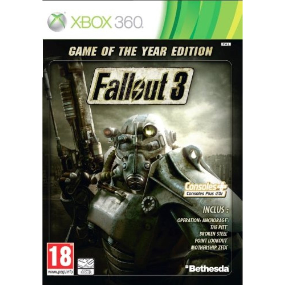 FALLOUT 3 (GAME OF THE YEAR EDITION - BEST SELLER) XBOX 360 PAL-FR OCCASION