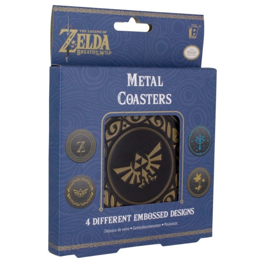 ZELDA BREATH OF THE WILD METAL COASTERS NEW