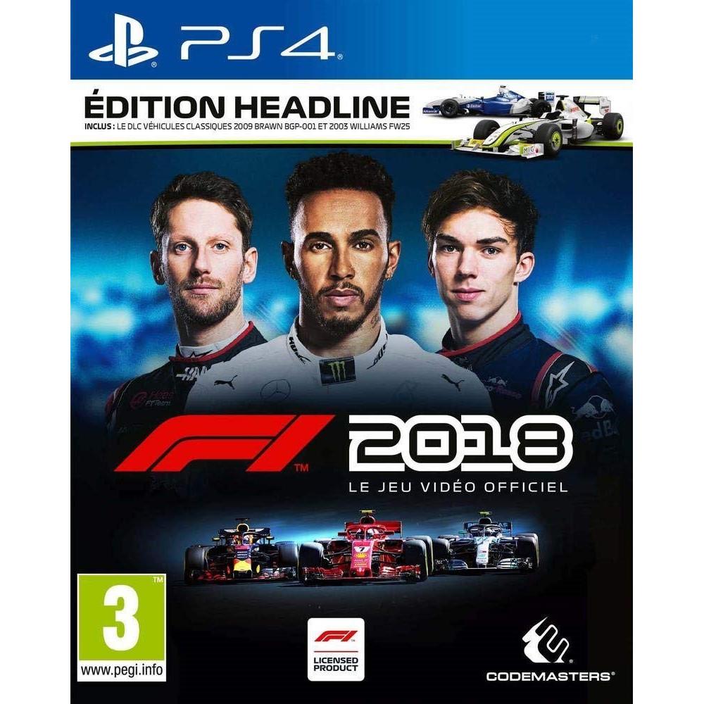 F1 2018 HEADLINE EDITION PS4 FR NEW