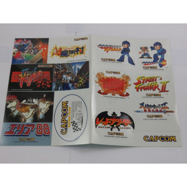 CAPCOM 1991 F3000 RACING TEAM STICKERS SET JPN NEW