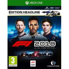 F1 2018 HEADLINE EDITION XBOX ONE FR NEW