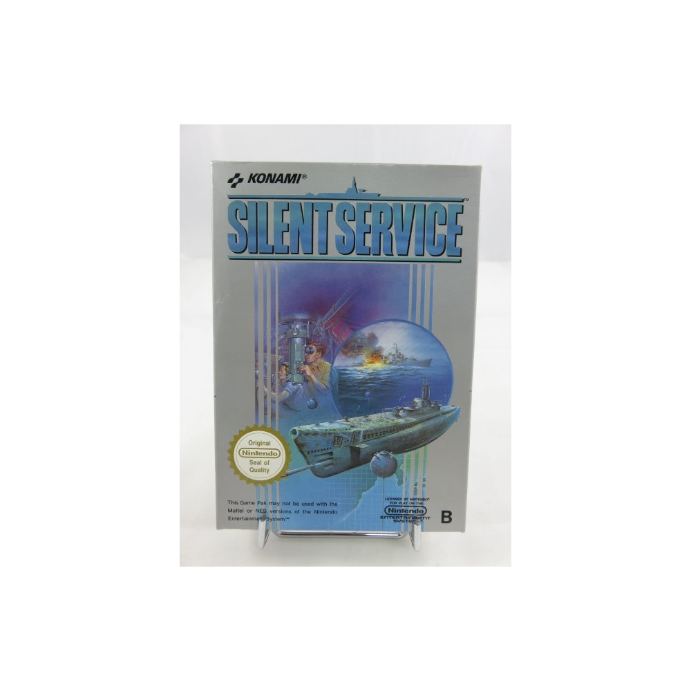 SILENT SERVICE NINTENDO NES PAL-B (EEC) (COMPLETE WITH REG CARD - VERY GOOD CONDITION)