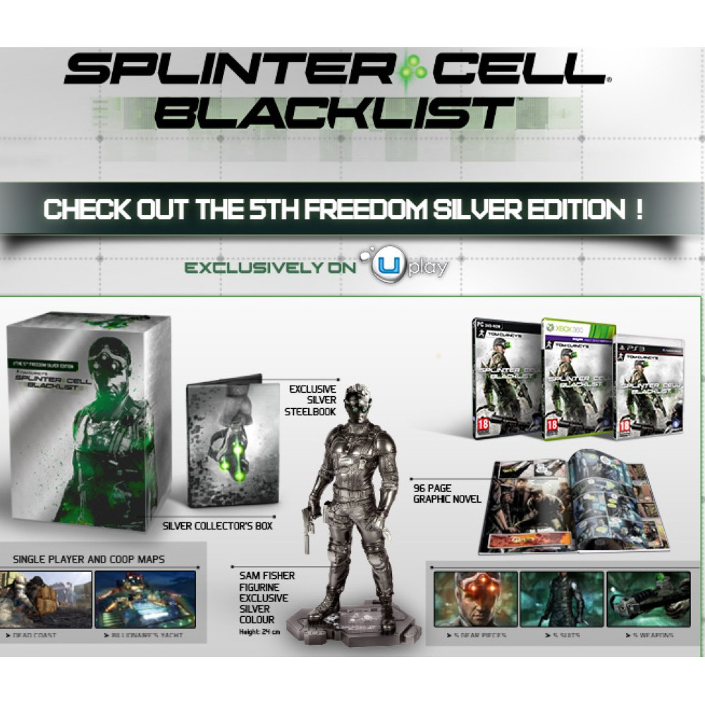 SPLINTER CELL BLACK LIST THE 5 TH FREEDOM EDITION XBOX 360 PAL-EUR