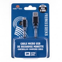 CABLE MICRO USB 3M CHARGE PS4 EURO NEW