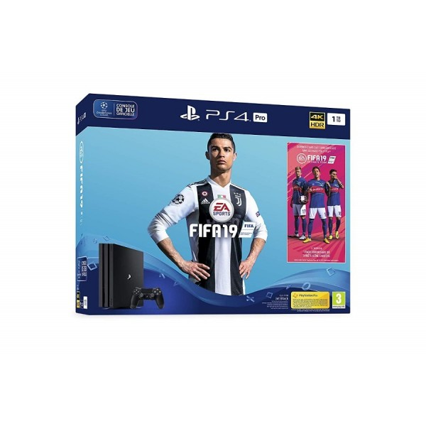 CONSOLE PS4 PRO 1TO + FIFA 19 EURO NEW