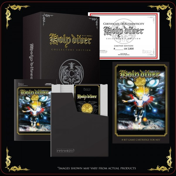 HOLY DIVER COLLECTOR'S EDITION 2900EX. (WHITE CARD) NES FAMICOM NEW