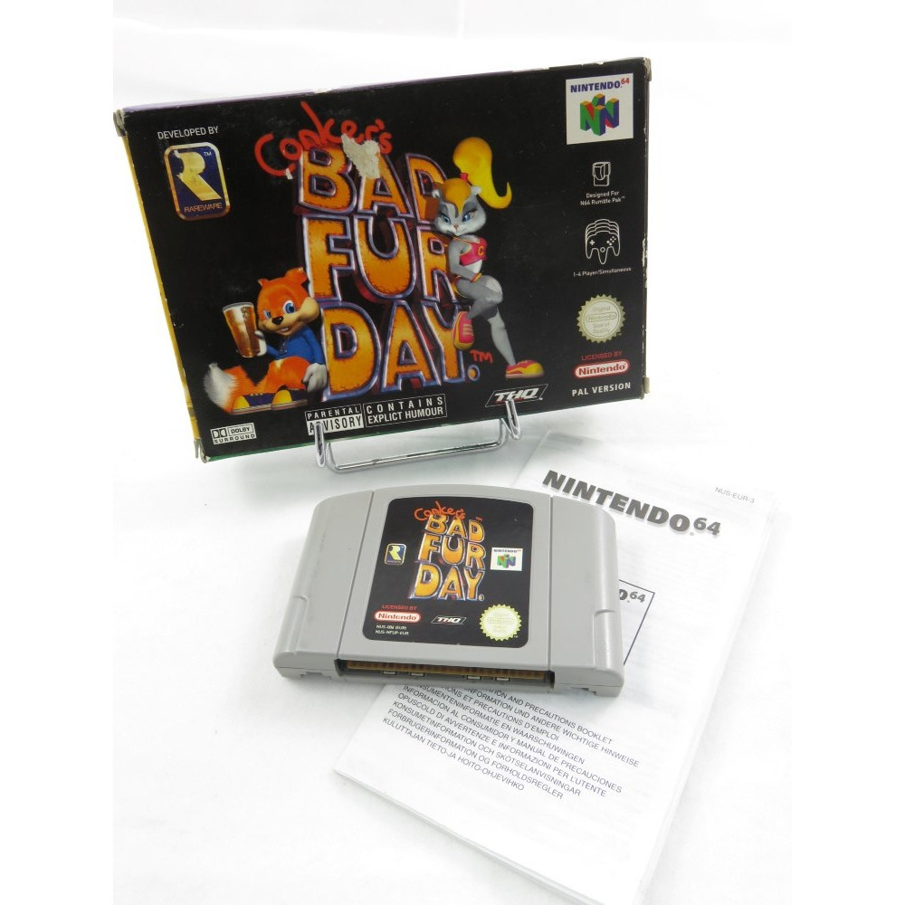 CONKER'S BAD FUR DAY N64 PAL-EUR OCCASION (SANS NOTICE)
