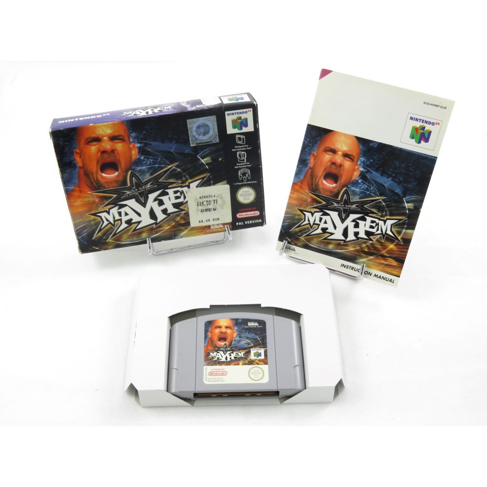 WORLD CHAMPIONSHIP WRESTLING MAYHEM N64 PAL-EURO OCCASION