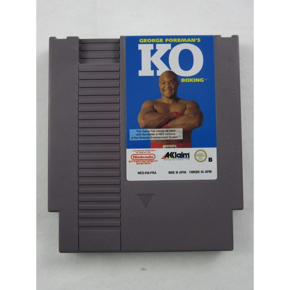 GEORGE FOREMAN S KO BOXING NES PAL-B FRA LOOSE (ETAT B)