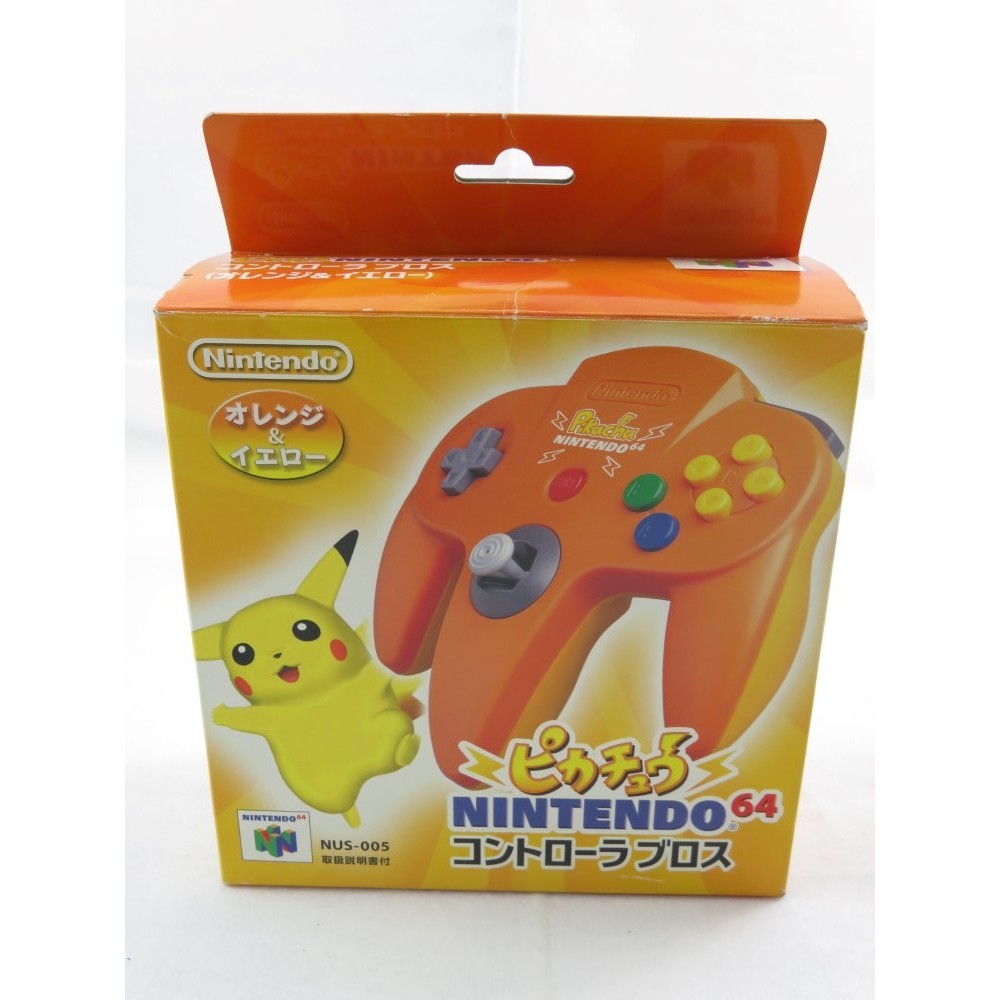 CONTROLLER - MANETTE PIKACHU YELLOW & ORANGE JPN OCCASION (EN BOITE)