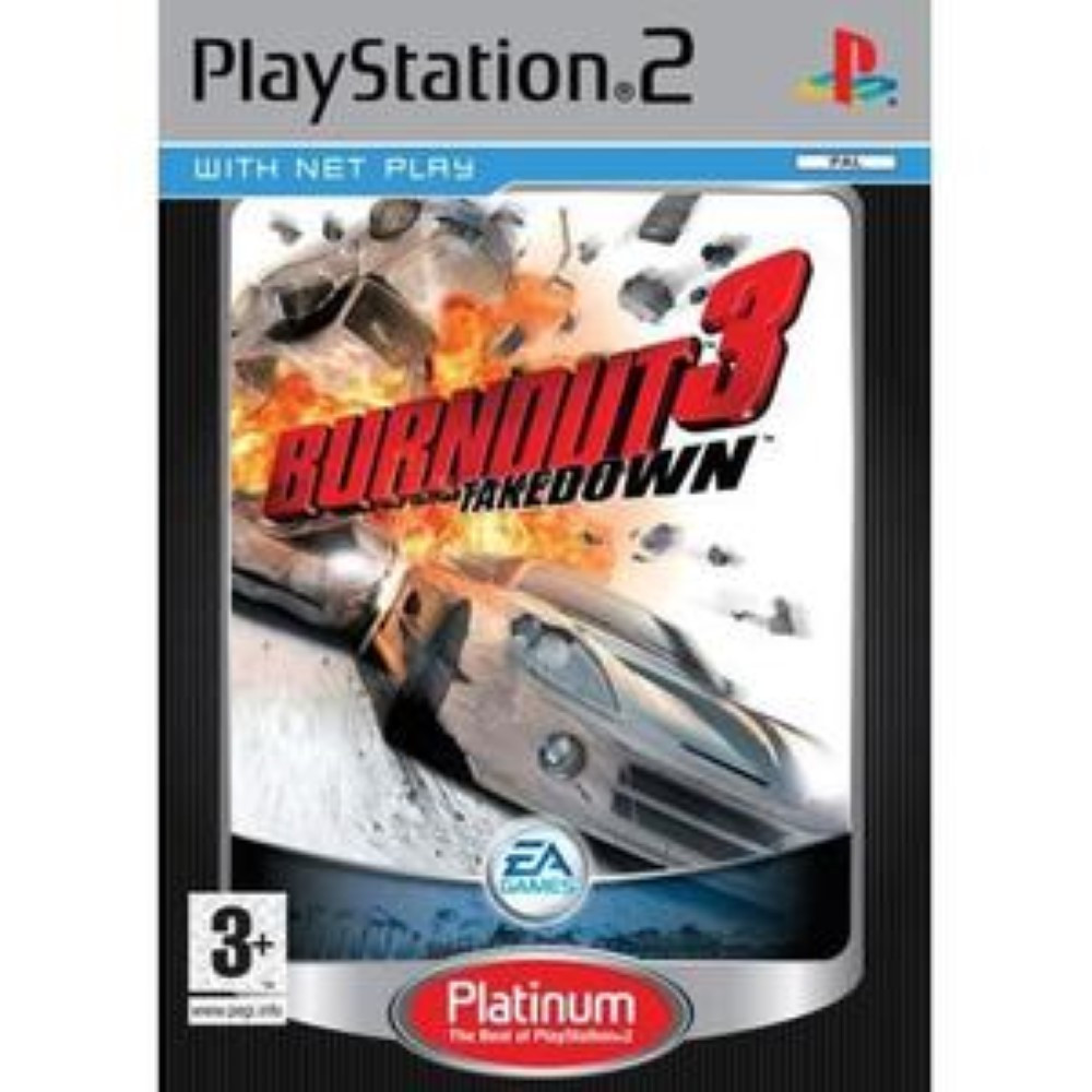 BURNOUT 2 POINT OF IMPACT PLATINUM PS2 PAL-FR OCCASON