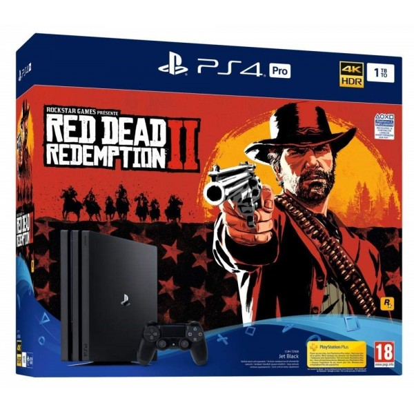 CONSOLE PS4 PRO 1 TO + RED DEAD REDEMPTION 2 EURO NEW