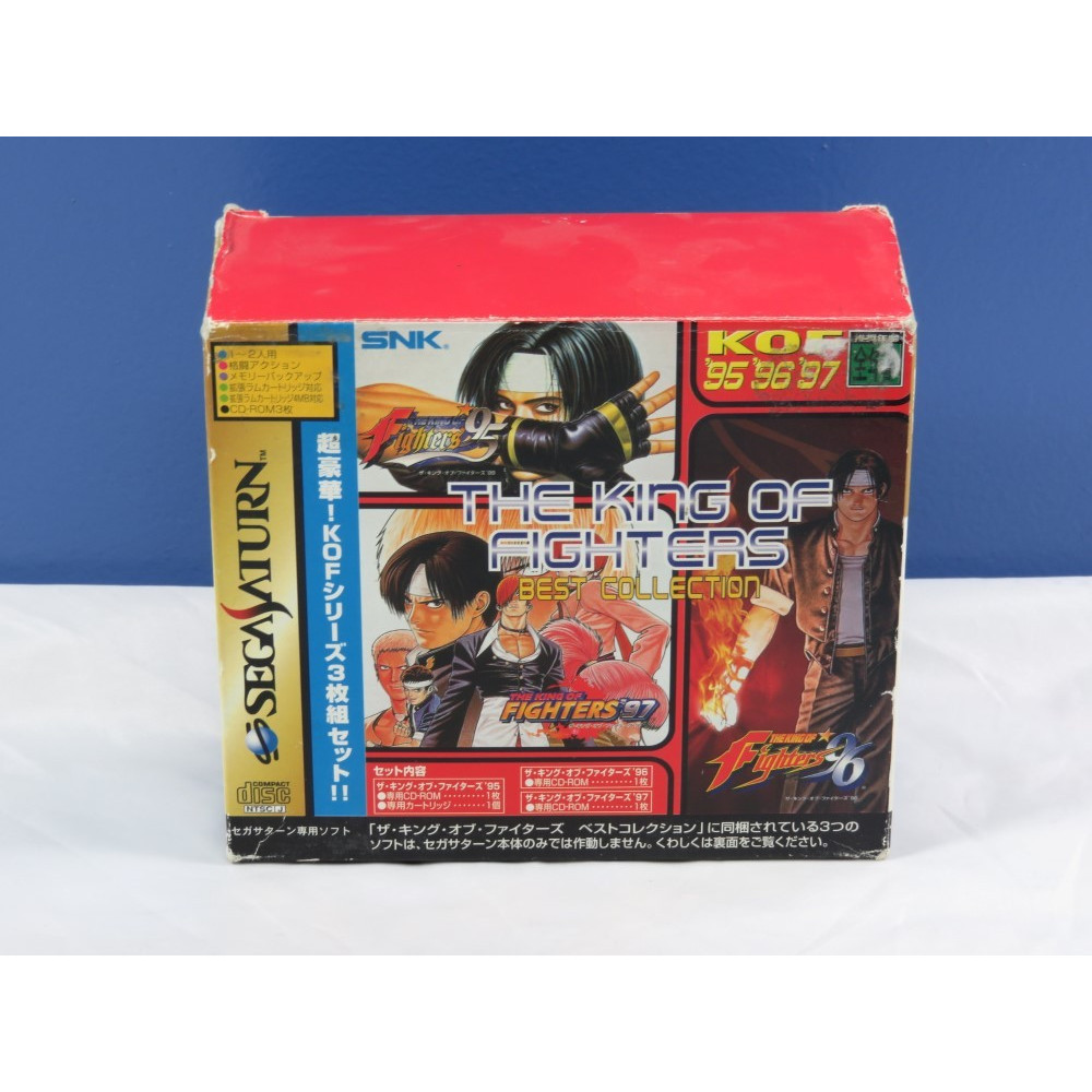 THE KING OF FIGHTERS BEST COLLECTION BOX (95-96-97 + RAM 4MB) SATURN NTSC-JPN OCCASION