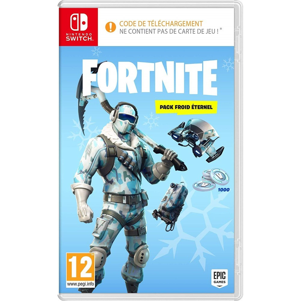 FORTNITE PACK FROID ETERNEL SWITCH FR NEW