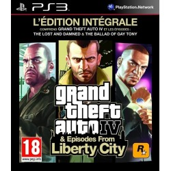 GTA IV & EPISODES FROM LIBERTY CITY EDITION INTEGRALE PS3 FR OCCASION