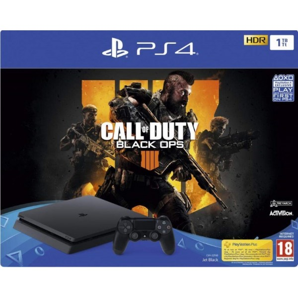 CONSOLE PS4 SLIM 1 TO + CALL OF DUTY BLACK OPS 4 FR NEW