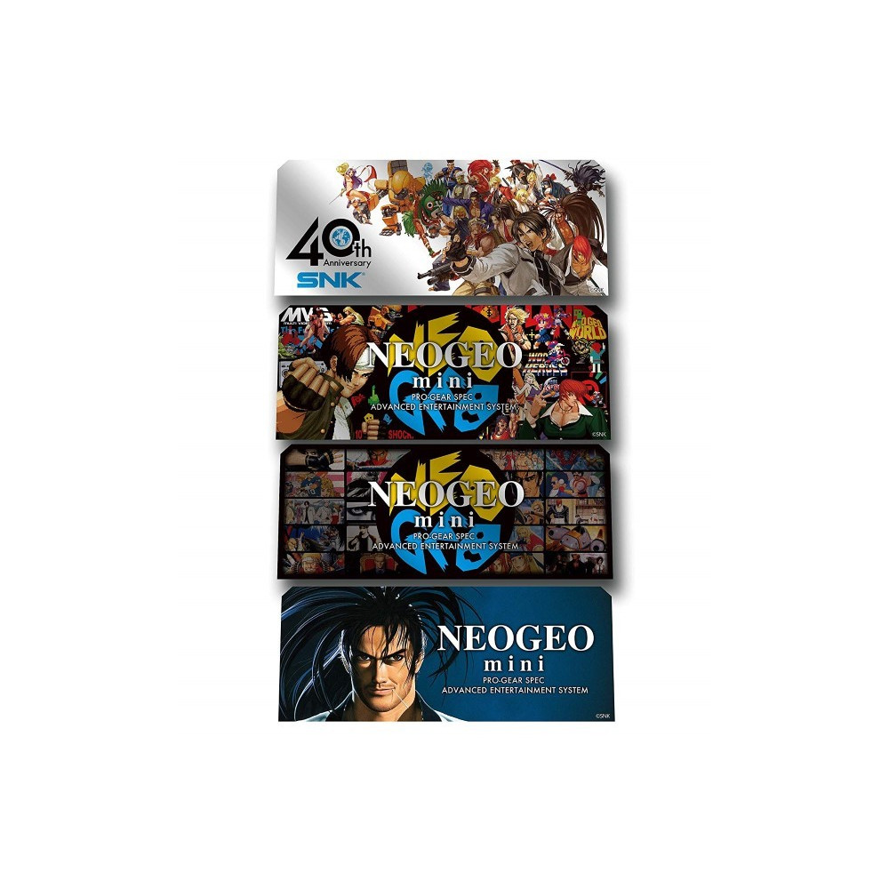 SNK NEOGEO MINI OFFICIAL CHARACTERS STICKERS 4 PCS EURO NEW