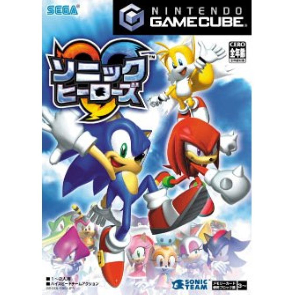 SONIC HEROES GAMECUBE JAP NEW