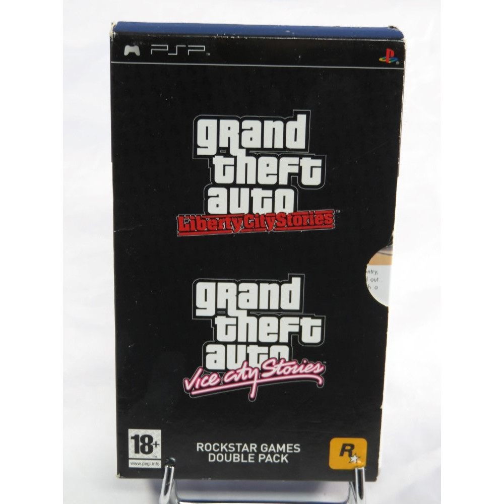 ROCKSTAR GAMES DOUBLE PACK - GTA LIBERTY CITY SORIES - VICE CITY STORIES PSP UK OCCASION