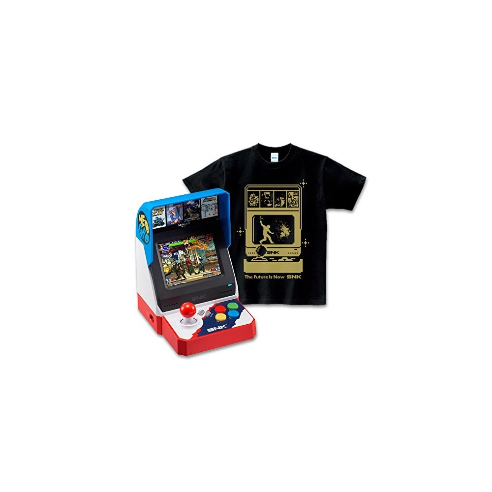 CONSOLE SNK NEO GEO MINI + SNK DOT HERO T-SHIRT OROCHINAGI EDITION JPN NEW