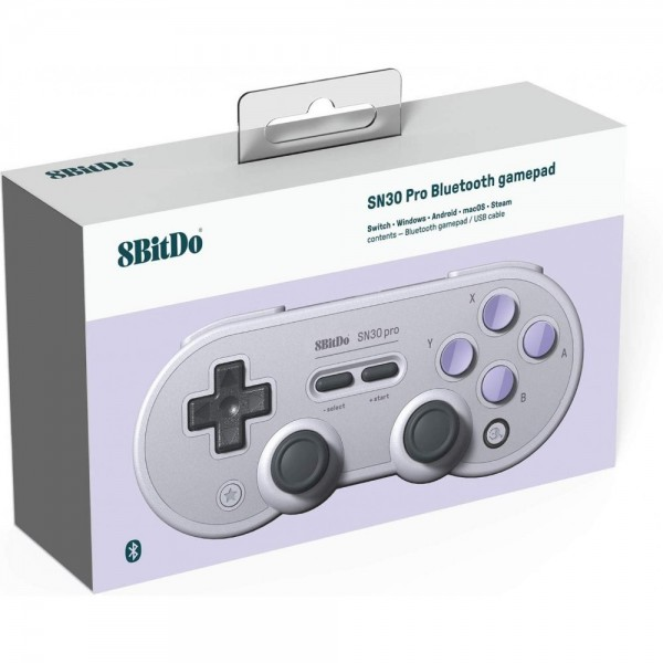 CONTROLLER 8BITDO SN30 PRO BLUETOOTH GAMEPAD GRISE EDITION NEW