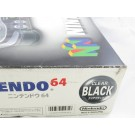 CONSOLE NINTENDO 64 CLEAR BLACK NTSC-JAPONAISE COMPLETE